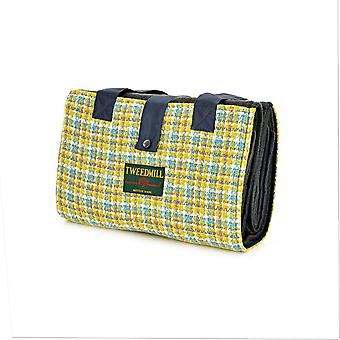 Tweedmill Leisure/Picnic Rug con tasca in tweed e supporto impermeabile - Festival Wilderness