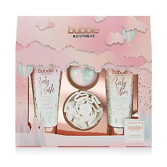 Style & Grace Bubble Boutique Gift Of The Glow - Shower Flower, 80g Bath Fizzer, 100ml Body Lotion, 100ml Body Wash