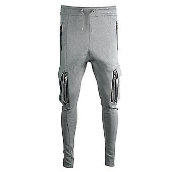 Balmain Multi Pocket Grey Sweat Pants
