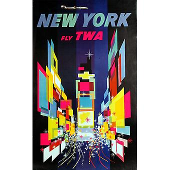 Nova Iorque voar TWA Poster Print (8 x 10)