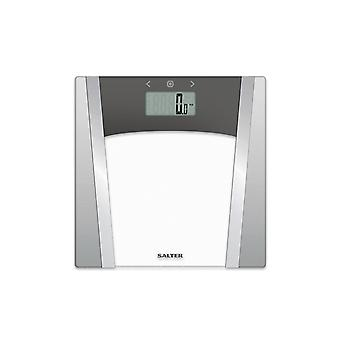 Salter Glass Analyser Bathroom Scales Large Display 9127SVSV3R