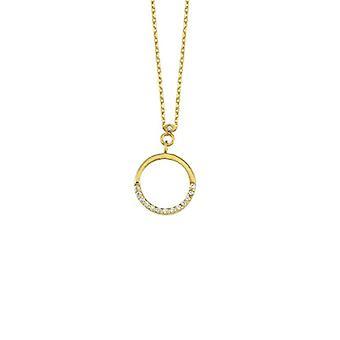 Cirkel guld halskæde