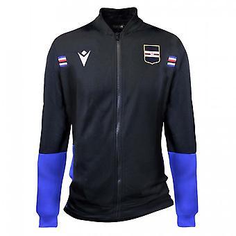 2020-2021 Sampdoria Full Zip Chaqueta de Microfibra (Negro)