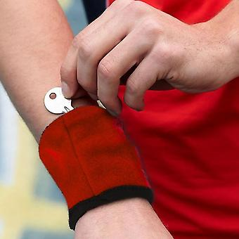 Multipurpose And Breathable Wrist Sweatband  For Key/cards Storage