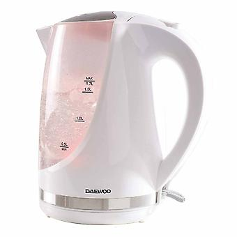 Daewoo White 1.7l Colour Changing Kettle