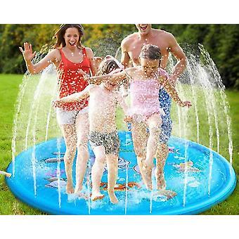 Niños aspersor pad estera, verano al aire libre agua Splash jugar mat césped inflable