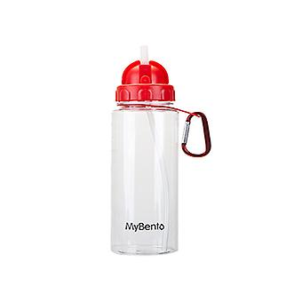 Top MyBento 700Ml fles met flip stro - 1 unit rode fles