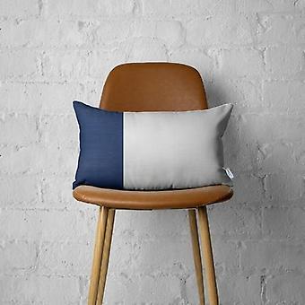Decorative Vegan Faux Leather Lumbar Throw Pillow Cover