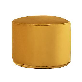 Turmeric Yellow Round Bean Bag Foot Rest Stool Pouffe Living Room Beanbag Ottoman Footstools