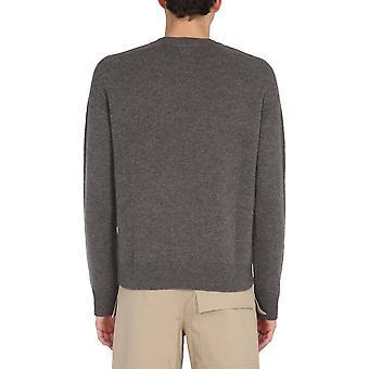 Bottega Veneta 648380v0am01306 Men's Grey Wool Sweater