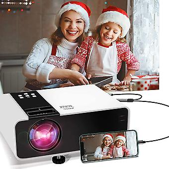 "Projector 5500 Lumens, WayGoal Portable Mini Projector Support Full HD 1080P, 200"" Display Compatibl"