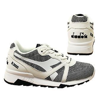 Diadora N9000 Arrowhead Black White Casual Lace Up Mens Trainers C0013 B71B