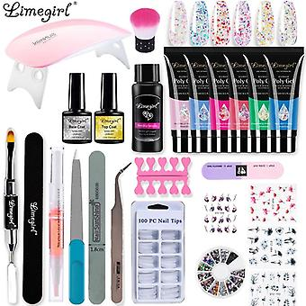 Manicure Gel Nail Extension Set Acrylic Solution Water Builder Polish (zh147-1)
