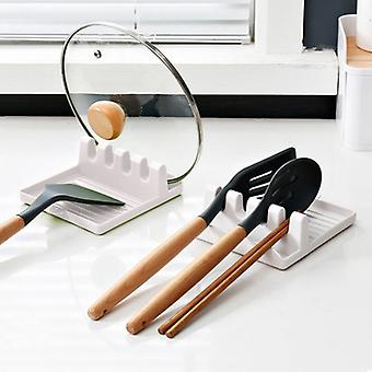 Cooking Utensil Rest Kitchen Organizer and Storage with Drip Pad Kitchen Fork Spoon Holders Non-slip Pad Kitchen Accessories