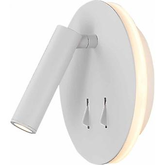 Mantra Cayman Wall And Reading Light, 6w + 3w Led Individually Switched White