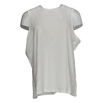 Chiunque donna top accogliente gentile maglia maglia girocollo serbatoio bianco A377738