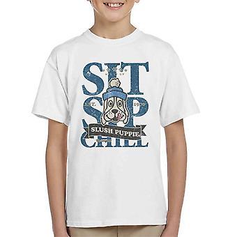 Slush Puppie Distressed Sit Sip Chill Kid's T-Shirt