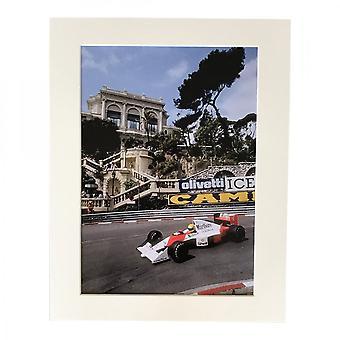 Larrini Senna At Monaco In Marlboro Honda A4 Mounted Photo