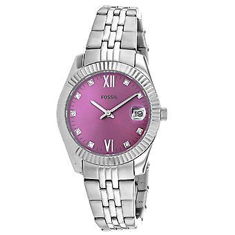 Fossil Women's Scarlette Purple Dial Watch - ES4905