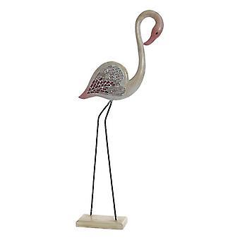 Figurka dekoracyjna Dekodonia Bamboo Crystal Iron Mirror Flamenco (38 x 13 x 95 cm)