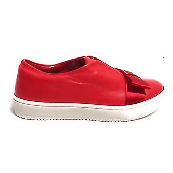 Women's Shoes Aurora Sneaker Scamiciata Red Leather With Bow D18au01