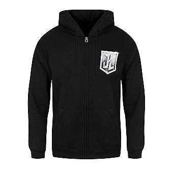 Justice League Unisex Adults Logo Design Zipped Hoodie