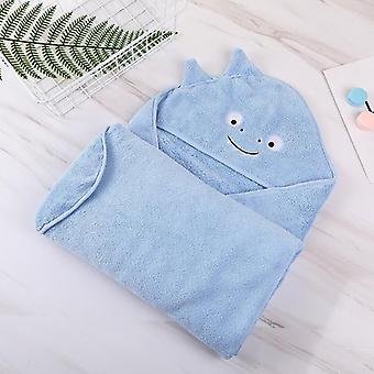 Baby Bath Towel With Hood Cartoon Coral Fleece Infant Towels Blanket