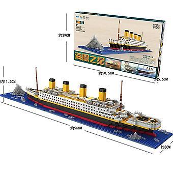 1860 Pcs Rms Titanic Model Large Cruise Ship/boat Diy Building Blocks Classics