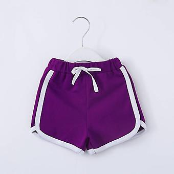 Shorts fofos de verão, crianças esportes mid waist beach curto