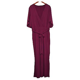 Colleen Lopez Jumpsuits Crossover Belted Purple 710637