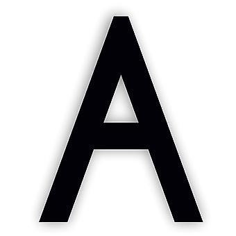 Alphabet letter Caviar Font Acrylic Mirror or Black Acrylic Door Sign - A