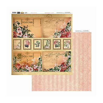 Couture Creations - Carte Postale 12x12 tum Dubbelsidiga förpackningar med 10 ark