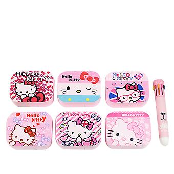Cartoon three-dimensional contact lens case myopia cosmetic contact lens companion box square glasses case