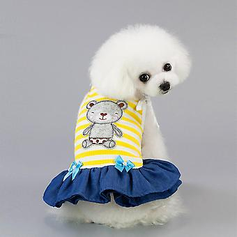 Bear sling dress cool summer pet clothes