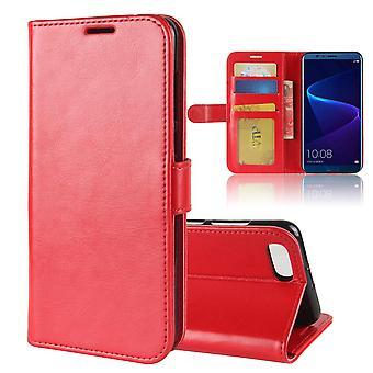 حقيبة جلدية أنيقة مغناطيسية للشرف v10 - أحمر
