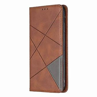 Magnetic leather case bicolor for Samsung Galaxy S9 - Brown