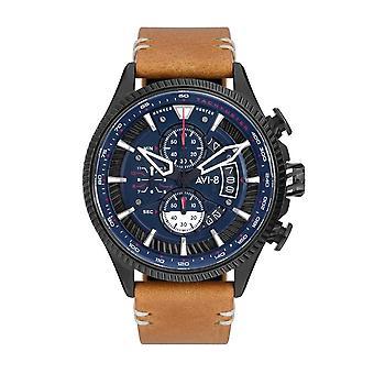 AVI-8 AV-4064-01 Hawker Hunter Avon Chrono Leather Strap Wristwatch
