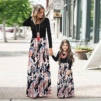 Mom And Daughter Dress, Floral Long Dress