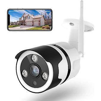 HanFei 1080P HD berwachungskamera Aussen WLAN Bullet Kamera Outdoor Sicherheitskamera IP66