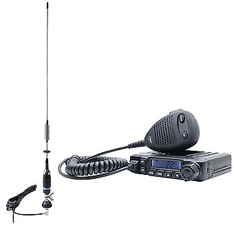 CB PNI ESCORT HP 6500 ASQ Radio Station Pack, RF Gain, 4W, 12V + CB PNI S75 Antenna with 7-9KM Cable and Fixed Mount