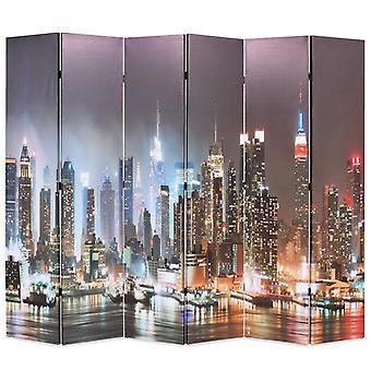 vidaXL room divider foldable 228 x 170 cm New York at night