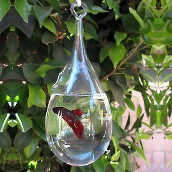Modern Home Hanging Glass Terrarium/Fish Tank/Vase - Teardrop