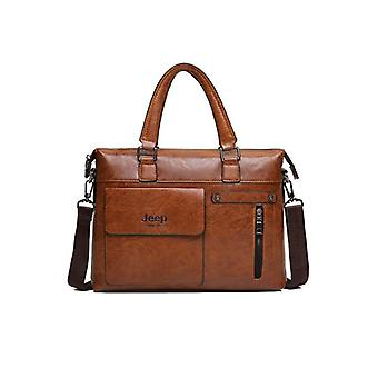 Famous Designer Men Business Briefcase, Pu Leather Bags