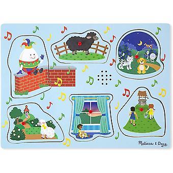FengChun Melissa Doug Soundpuzzle aus Holz - Kinderreime 3 (6 Teile)