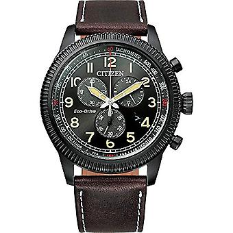 Citizen Analogueico Men's Watch with Leather Strap AT2465-18E