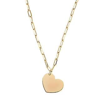 """OELANI Necklace with women's pendant in silver 925 gold plated, patterned chain, adjustable length """"LOVE""""(2"""