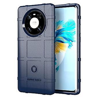 Tpu carbon fibre case for huawei mate 40 pro blue mfkj-1540