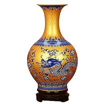 antique dragon pattern jingdezhen decoration hand painted ceramic vase