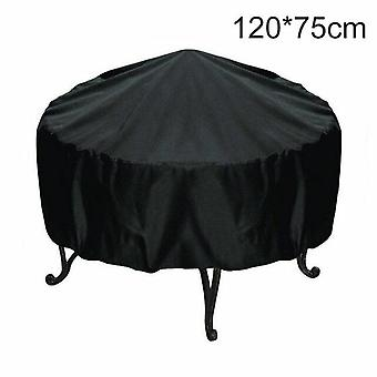 Waterproof BBQ Outdoor Grill Cover Rainproof Dustproof Sunshade Round Barbecue Covers(120*75cm)