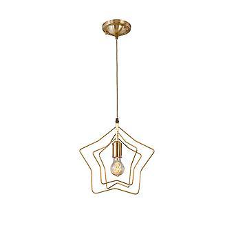 Alle kobber stjerne lysekrone moderne minimalistisk restaurant bar bordlampe stue soveværelse